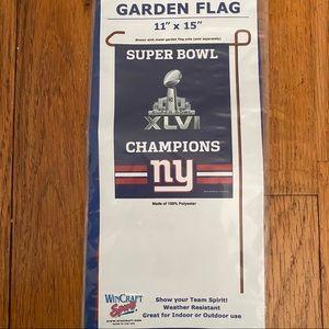 New York Giants Football Super Bowl Garden Flag